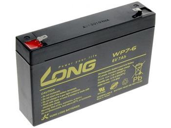 Baterie Long WP7-6 (6V/7Ah - Faston 187)