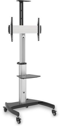 """CONNECT IT Wheelie II pojízdný stojan & držák na jednu obrazovku 37"""" - 70"""", záruka 30 let, STŘÍBRNÝ"""