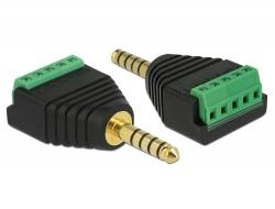 Delock Adaptér Stereo jack samec 4,4 mm na svorkovnice 5 pin