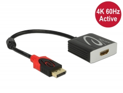 Delock Adaptér z Active DisplayPort 1.4 na HDMI, 4K, 60 Hz (HDR)