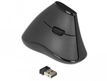 Delock Ergonomická vertikální optická 5-tlačítková myš 2,4 GHz bezdrátová - tichá