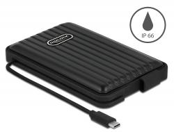 "Delock Externí pouzdro pro HDD / SSD SATA 2.5"" s USB Type-C™ - IP66"