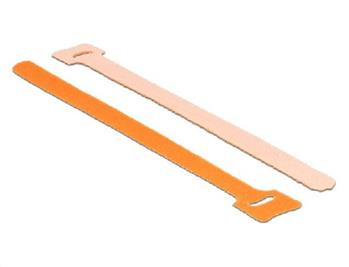 Delock Hook-and-loop fasteners L 200 mm x W 12 mm 10 pieces orange