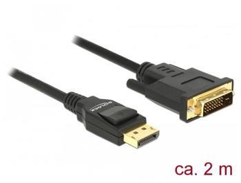 Delock Kabel Displayport 1.2 samec > DVI 24+1 samec pasivní 2 m černý