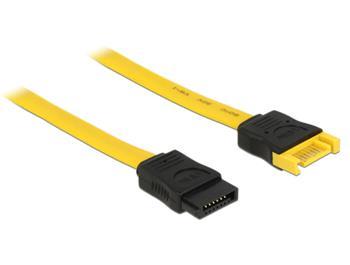 Delock Prodlužovací kabel SATA 6 Gb/s samec > SATA samice 70 cm žlutý