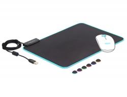 Delock USB Podložka pod myš 350 x 260 x 3 mm s RGB osvětlením