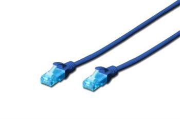 Digitus Ecoline Patch Cable, UTP, CAT 5e, AWG 26/7, modrý 5m, 1ks