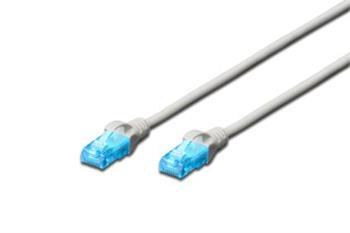 Digitus Ecoline Patch Cable, UTP, CAT 5e, AWG 26/7, šedý 2m, 1ks