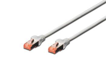 Digitus Patch Cable, S-FTP, CAT 6, AWG 27/7, LSOH, Měď, šedý 1m
