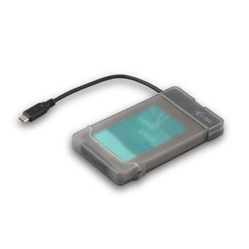 """i-Tec MySafe USB-C 3.1 externí case pro disk 9.5 mm/2.5"""" pro SATA HDD SSD"""