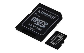 KINGSTON 32GB microSDHC CANVAS Plus Memory Card 100MB read - UHS-I class 10 Gen 3