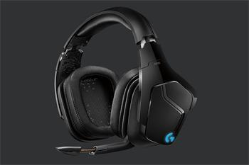 Logitech náhlavní herní souprava G935 7.1 DTS, Surround lightsync/drátové/bezdrátové - černé