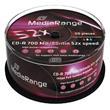 MEDIARANGE CD-R 700MB 52x Inkjet Fullsurface-Printable spindl 50pck/bal