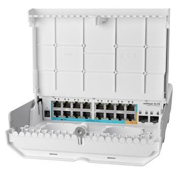 MikroTik CRS318-1Fi-15Fr-2S-OUT - netPower 15FR reverzní POE switch