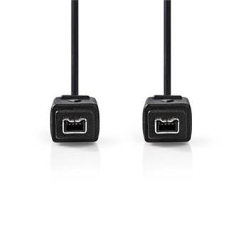 Nedis CCGP62000BK20 - Kabel FireWire   4-pin Zástrčka - 4-pin Zástrčka   2 m   Černá barva