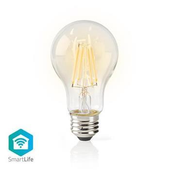 Nedis WIFILF10WTA60- Wi-Fi Chytrá LED Žárovka s Vláknem   E27   A60  5 W   500 lm   Teplá Bílá