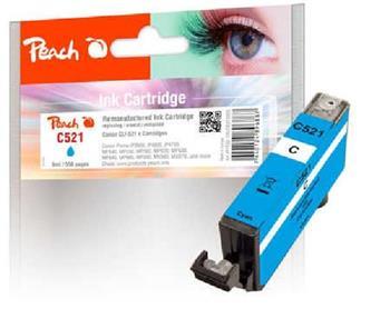 PEACH kompatibilní cartridge Canon CLI-521c, cyan, 9 ml