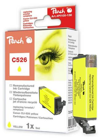 PEACH kompatibilní cartridge Canon CLI-526Y, Yellow, 9 ml