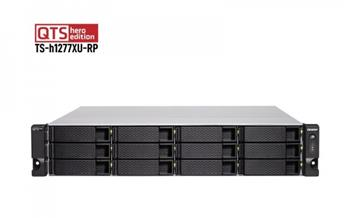 "QNAP 12-Bay QTS hero NAS, AMD Ryzen™ 5 3700X 8-core/16-thread 3.4 GHz processor, 32GB DDR4 RAM (max 128GB RAM), 12x 2.5""/3.5"" SATA"