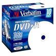 VERBATIM DVD+R AZO 4,7GB, 16x, printable, jewel case 10 ks